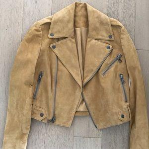 Alice and Olivia Suede Moto Jacket
